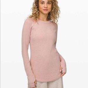 Lululemon Sit in Lotus pink sweater